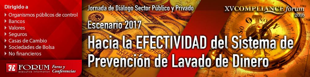 XV Encuentro Anual ComplianceForum 2016: Hacia la Efectividad del Sistema de Prevención de Lavado de Activos