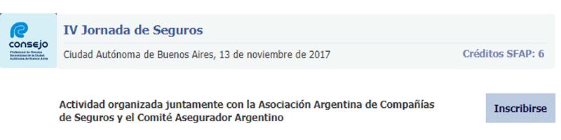 """""""IV Jornada de Seguros"""" Consejo Profesional de Ciencias Económicas de la Ciudad Autónoma de Buenos Aires"""